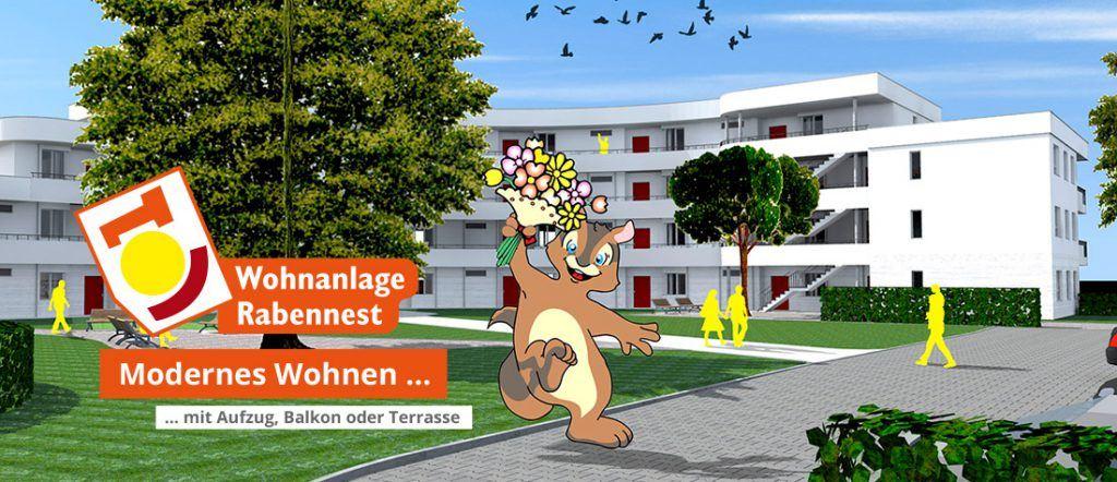 Wohnanlage Rabennest WG Aufbau Merseburg
