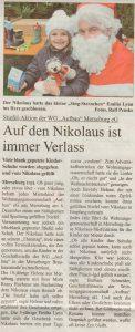 Super Sonntag Nikolausbesuch bei WG Aufbau Merseburg
