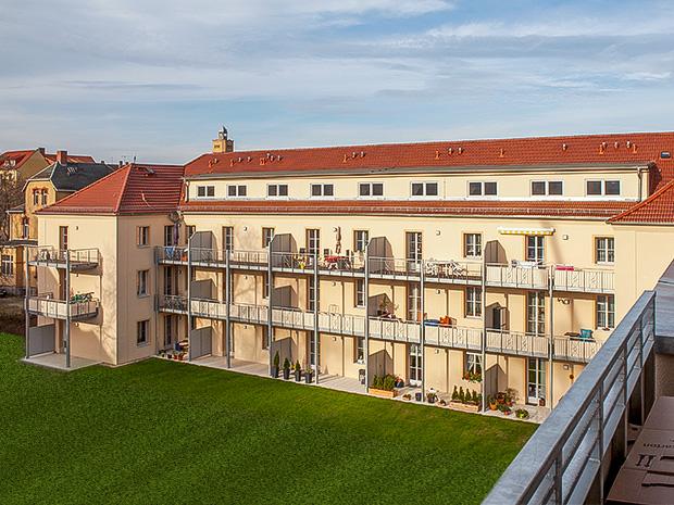 WG Aufbau Merseburg Altbau der Wohnanlage Rabennest in Merseburg