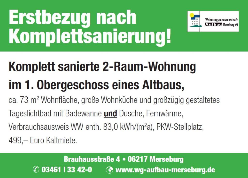 WG Aufbau Merseburg Familien-Schautag Merseburg
