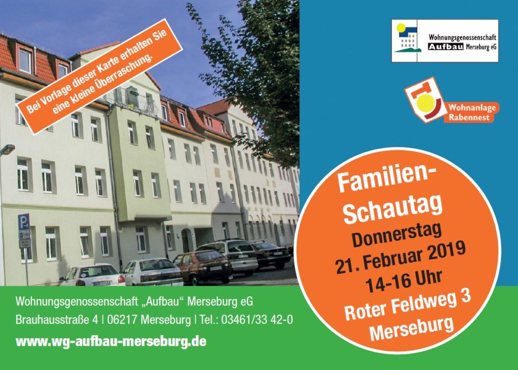 WG Aufbau Merseburg Familien-Schautag Roter Feldweg