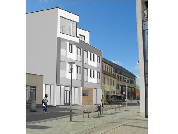WG Aufbau Merseburg Neubauprojekt Gotthardstr. 42 Merseburg Straßenansicht