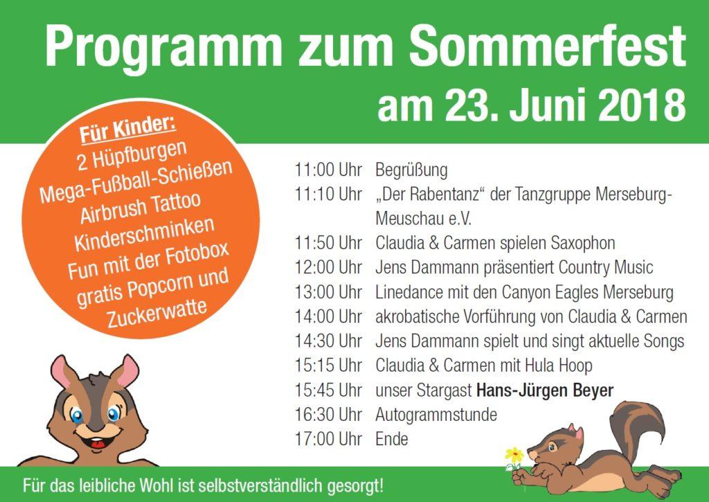 WG Aufbau Merseburg Programm Sommerfest 2018 in Merseburg