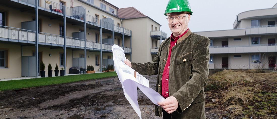WG Aufbau Merseburg Bauvorhaben Wohnanlage Rabennest in Merseburg