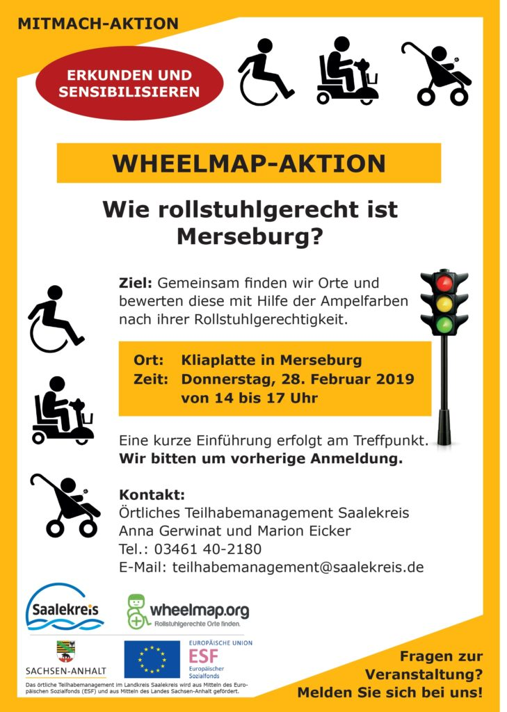 Wheelmap-Aktion in Merseburg
