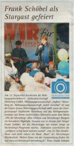 Frank Schöbel als Stargast gefeiert